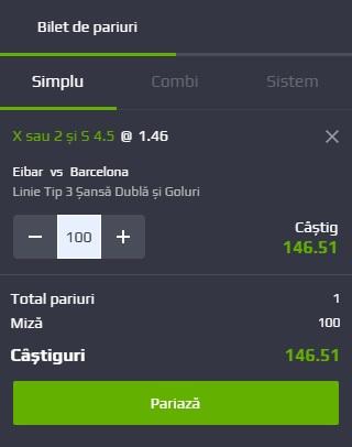 pont pariuri Eibar vs Barcelona
