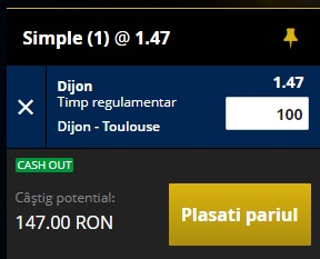 pont pariuri Dijon vs Toulouse