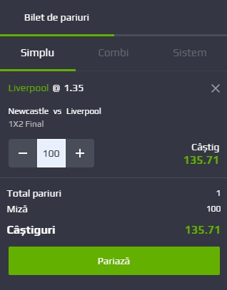 pont pariuri Newcastle vs Liverpool