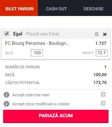 pont pariuri Bourg Peronnas vs Boulogne