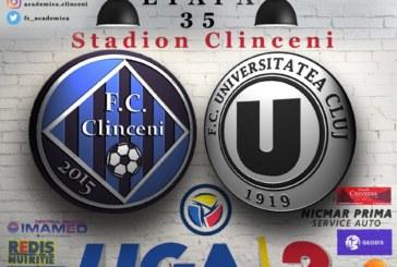 Ponturi Academica Clinceni-U Cluj fotbal 16-mai-2019 Liga 2