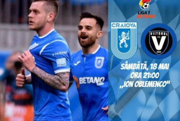 Ponturi Universitatea Craiova-Viitorul fotbal 18-mai-2019 Liga 1