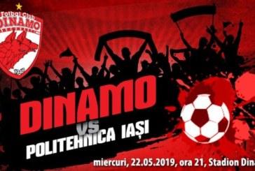 Ponturi Dinamo vs Poli Iasi fotbal 22 mai 2019 Liga I Betano Romania
