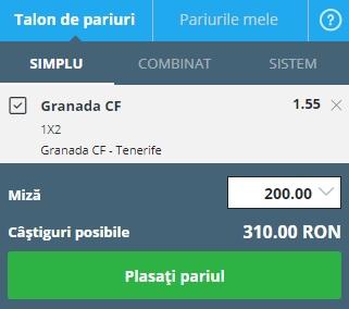 pont pariuri Granada vs Tenerife