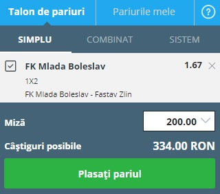 pont pariuri Mlada Boleslav vs Zlin