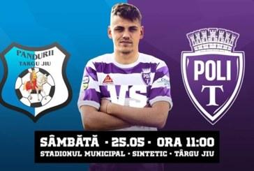 Ponturi Pandurii Tg. Jiu-ASU Poli Timisoara fotbal 25-mai-2019 Liga 2