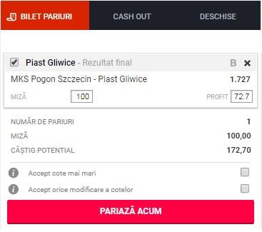 pont pariuri Pogon Szczecin vs Piast