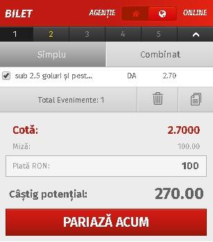 pont pariuri CFR Cluj vs Universitatea Craiova