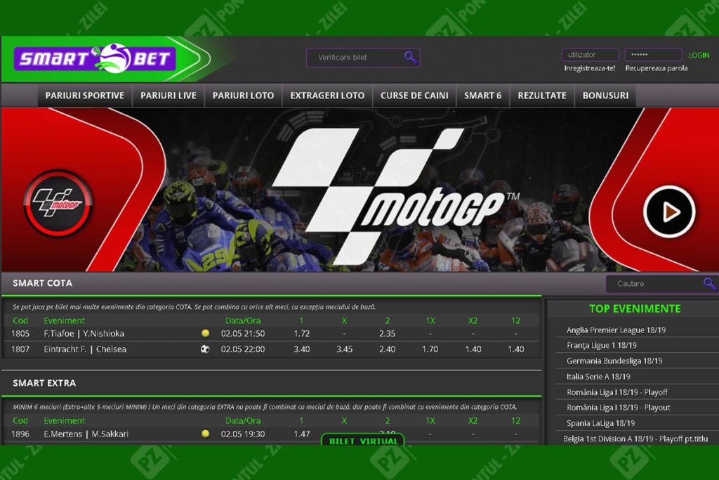 site-ul Smart Bet