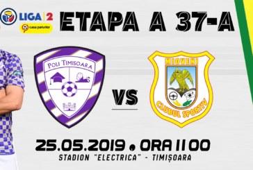 Ponturi Poli Timisoara-Mioveni fotbal 25-mai-2019 Liga 2
