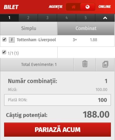 pont pariuri Tottenham vs Liverpool