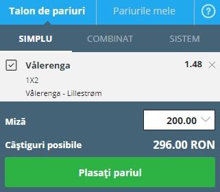 pont pariuri Valerenga vs Lillestrom