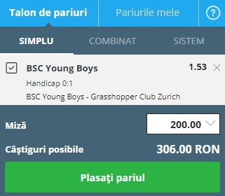 pont pariuri Young Boys vs Grasshoppers