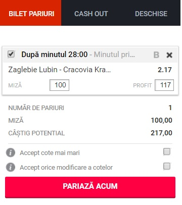 pont pariuri Zaglebie Lubin vs MKS Cracovia