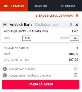 pont pariuri Ashleigh Barty vs Marketa Vondrousova