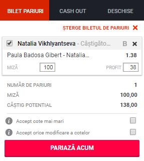 pont pariuri Paula Badosa vs Natalia Vikhlyantseva