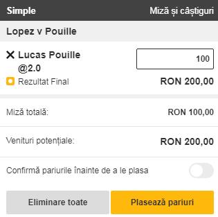 pont pariuri Feliciano Lopez vs Lucas Pouille