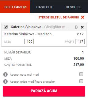pont pariuri Katerina Siniakova vs Madison Keys