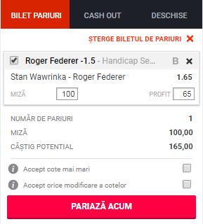 pont pariuri Stan Wawrinka vs Roger Federer