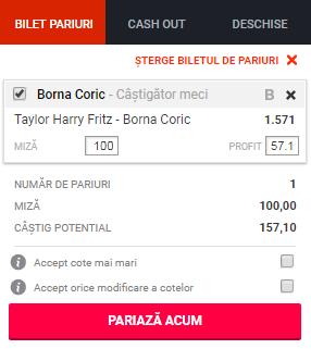 pont pariuri Taylor Harry Fritz vs Borna Coric