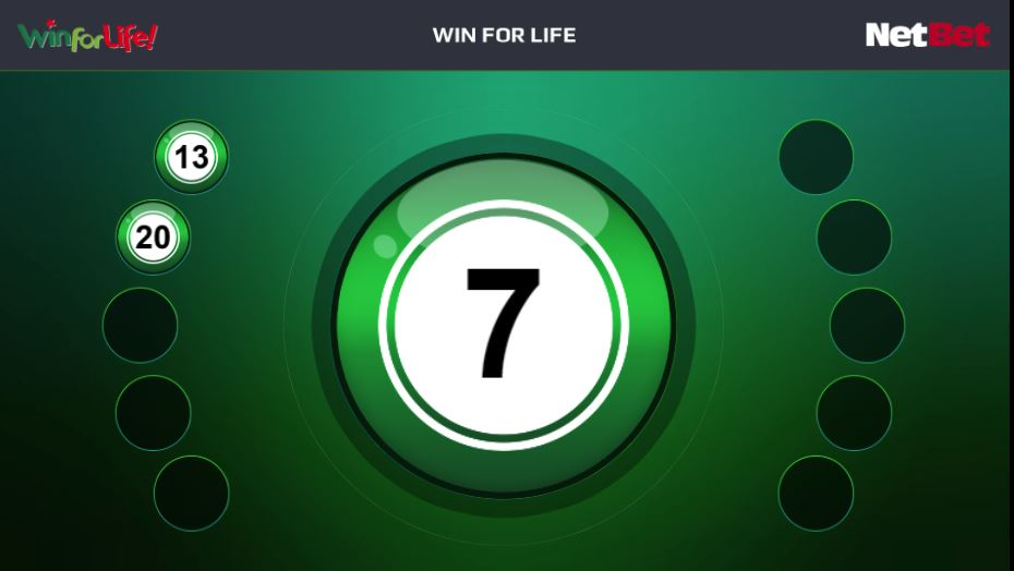 Win for Life LIVE la NetBet