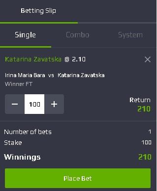 pont pariuri Irina Bara vs Katarina Zavatska