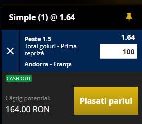 pont pariuri Andorra vs Franta