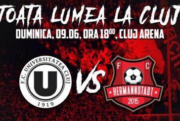Ponturi U Cluj-Hermannstadt fotbal 9-iunie-2019 baraj Liga 1