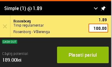 pont pariuri Rosenborg vs Valerenga
