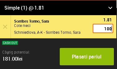 pont pariuri Anna Karolina Schmiedlova vs Sara Sorribes Tormo
