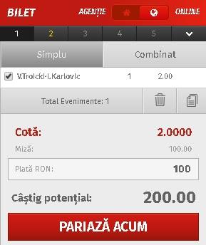 pont pariuri Viktor Troicki vs Ivo Karlovic