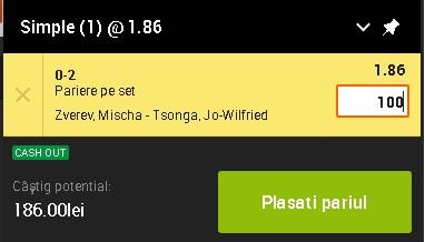 pont pariuri Mischa Zverev vs Jo-Wilfried Tsonga