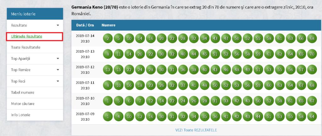 Loto Germania Rezultate