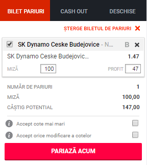 pont pariuri SK Dynamo Ceske Budejovice vs SFC Opava