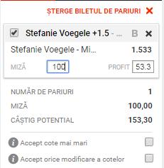 pont pariuri Mihaela Buzarnescu vs Stefanie Voegele