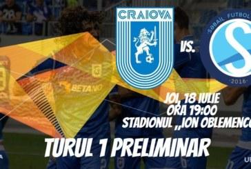 Ponturi Universitatea Craiova-Sabail fotbal 18-iulie-2019 retur preliminarii Europa League