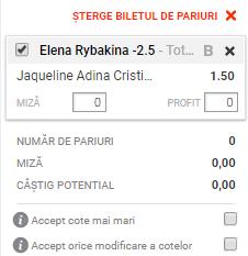 pont pariuri Jaqueline Cristian vs Elena Rybakina