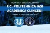Ponturi Poli Iasi-Academica Clinceni fotbal 26-iulie-2019 Liga 1