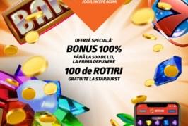 Deschide cont la Betano si primesti 100 de rotiri GRATUITE, pe langa bonusul de bun venit de 500 de RON!