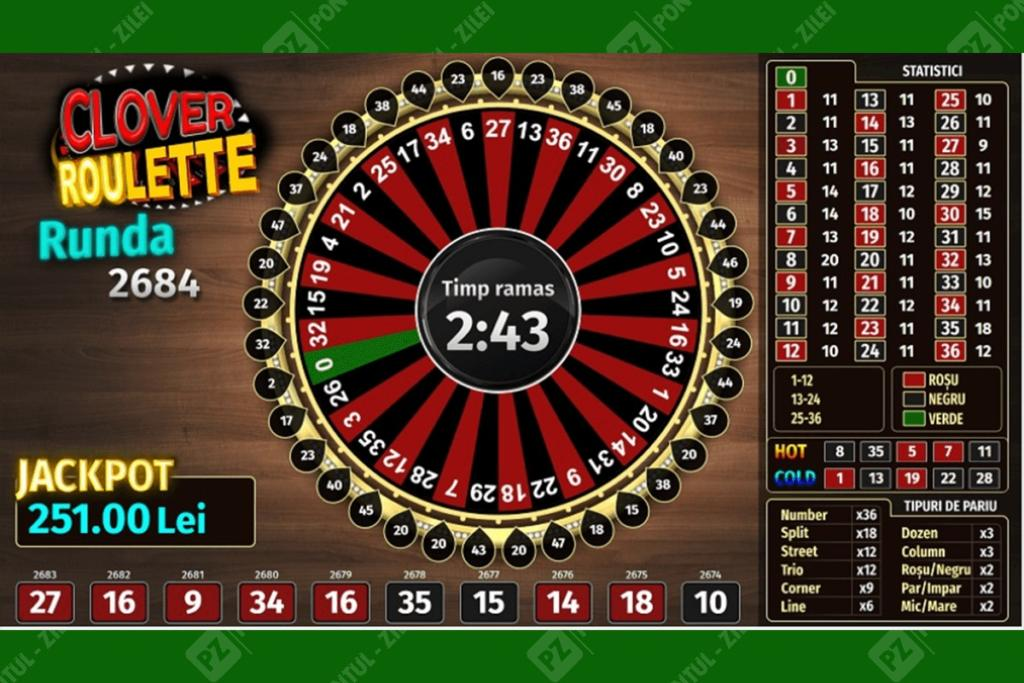 Ruleta la Cloverbet