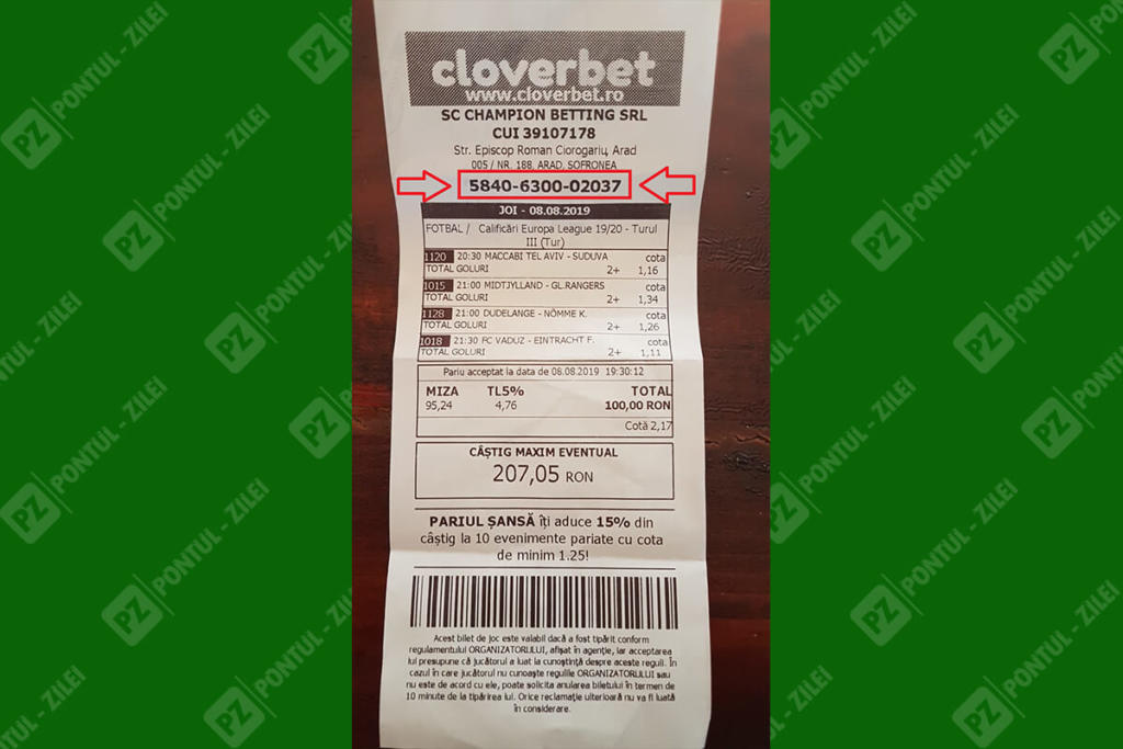 Bilet pariuri Cloverbet