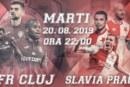 Ponturi CFR Cluj-Slavia Praga fotbal 20 august-2019 tur playoff Champions League