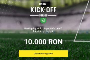 Kick-Off Series la Unibet cu premii de 100.000 RON!