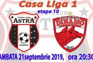 Ponturi Astra Giurgiu vs Dinamo fotbal 21 septembrie 2019 Liga 1 Romania