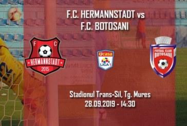 Ponturi Hermannstadt vs Botosani fotbal 28 septembrie 2019 Liga 1 Romania