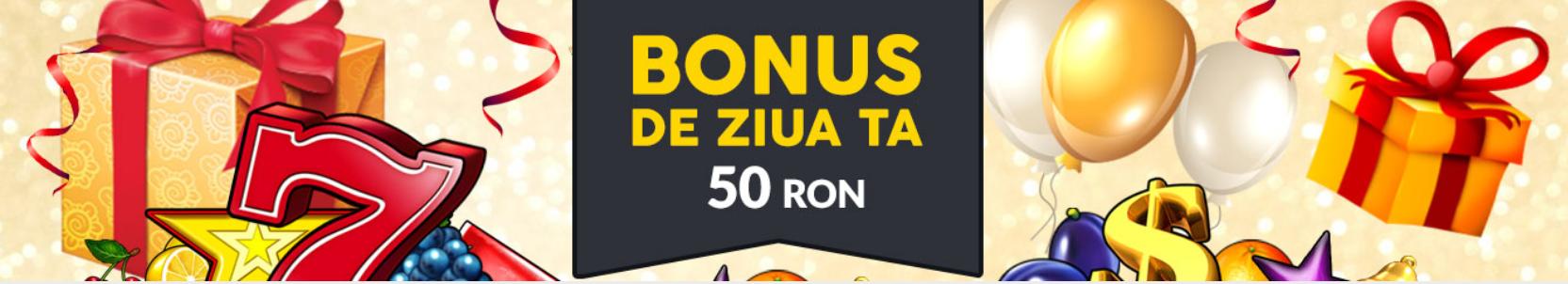 Bonus 50 ron de ziua ta la Winbet