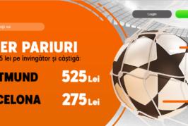 Biletul zilei fotbal COTA MARE – Marti 17 Septembrie – Cota 617 – Castig potential 15879 RON