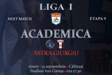 Ponturi Academica Clinceni vs Astra Giurgiu fotbal 13 septembrie 2019 Liga I Romania