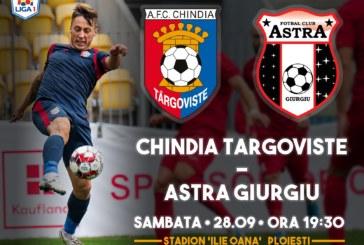Ponturi Chindia Targoviste-Astra Giurgiu fotbal 28-septembrie-2019 Liga 1
