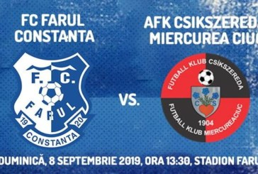 Ponturi Farul Constanta vs Csikszereda fotbal 8 septembrie 2019 Liga 2 Romania